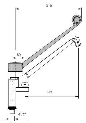 scheda tecnica rubinetto leva lunga 00333133