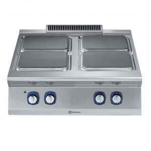Cucine Elettriche per Ristoranti top 4 piastre quadrate