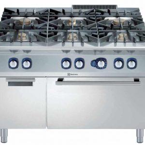 cucina 6 fuochi con forno a gas