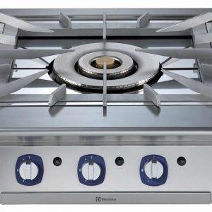 Cucina a Gas con Tre Fuochi Concentrici HP