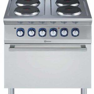Cucina Elettrica con Forno Elettrico Statico 4 piastre
