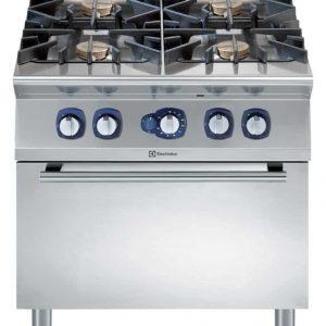 cucina professionale con forno a gas