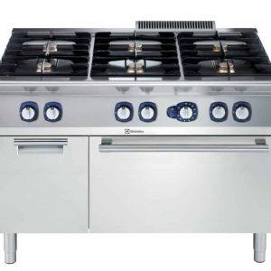 Cucine a Gas con Forno a Gas Statico 6 fuochi