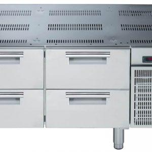 base refrigerata con 4 cassetti
