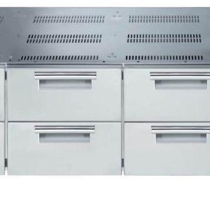 base refrigerata con 6 cassetti